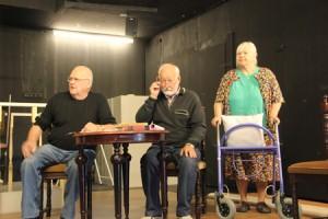 Kvartetin rooleissa nähdään muun muassa Mikko Lehto, Markku Jokelainen ja Ulla Taimila. Kuva: Anu Karppi