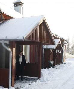 Marja Vaiste sai yrityksille suunnatun Kaarina-mitalin.