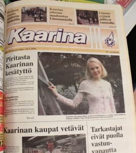 Piritta Porthan valittiin vuonna 1994 Kaarinan edustajaksi kesätyttökilpailuun. Nykyisin nainen asustelee pääkaupunkiseudulla ja julkaisi juuri esikoisteoksensa.