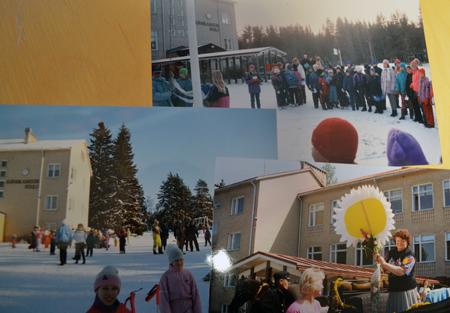 Kuvia vuosien varrelta. Maailma muuttuu, mutta koulu pysyy jalallaan. Kuva: Mika M. Niskanen