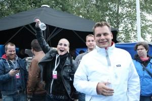 Hanna ja Jan Collin saapuivat Sikajuhlille Liedosta.