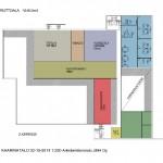 2. kerroksessa on nuorten osasto, musiikkiosasto sekä nuorisotila Amppeeri.