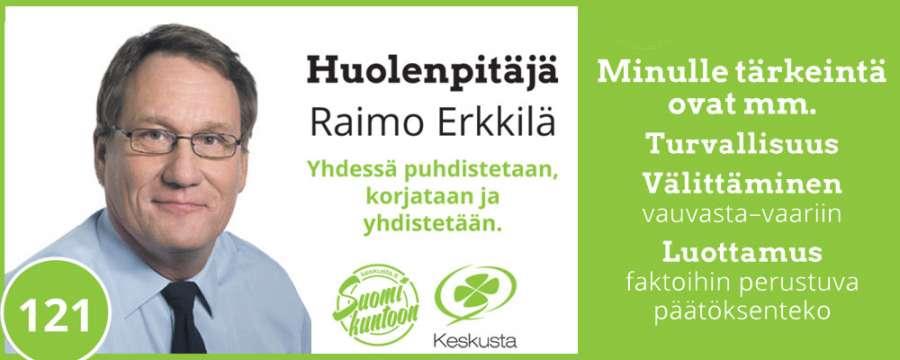 vaalit Raimo Erkkilä