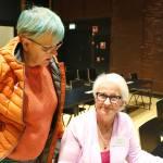 Pihlajan luentoa kuuntelivat Sirkku Lindstam Orimattilasta ja Mirja Koponen Raaseporista. He olivat käyneet näissä tapaamisissa useana vuotena ja kehuivat päivän antia vuolaasti.
